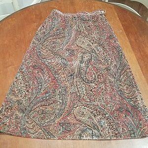 Vintage Velveteen Paisley Skirt